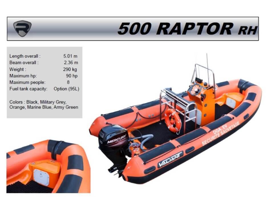 סירת דייג RAPTOR 500