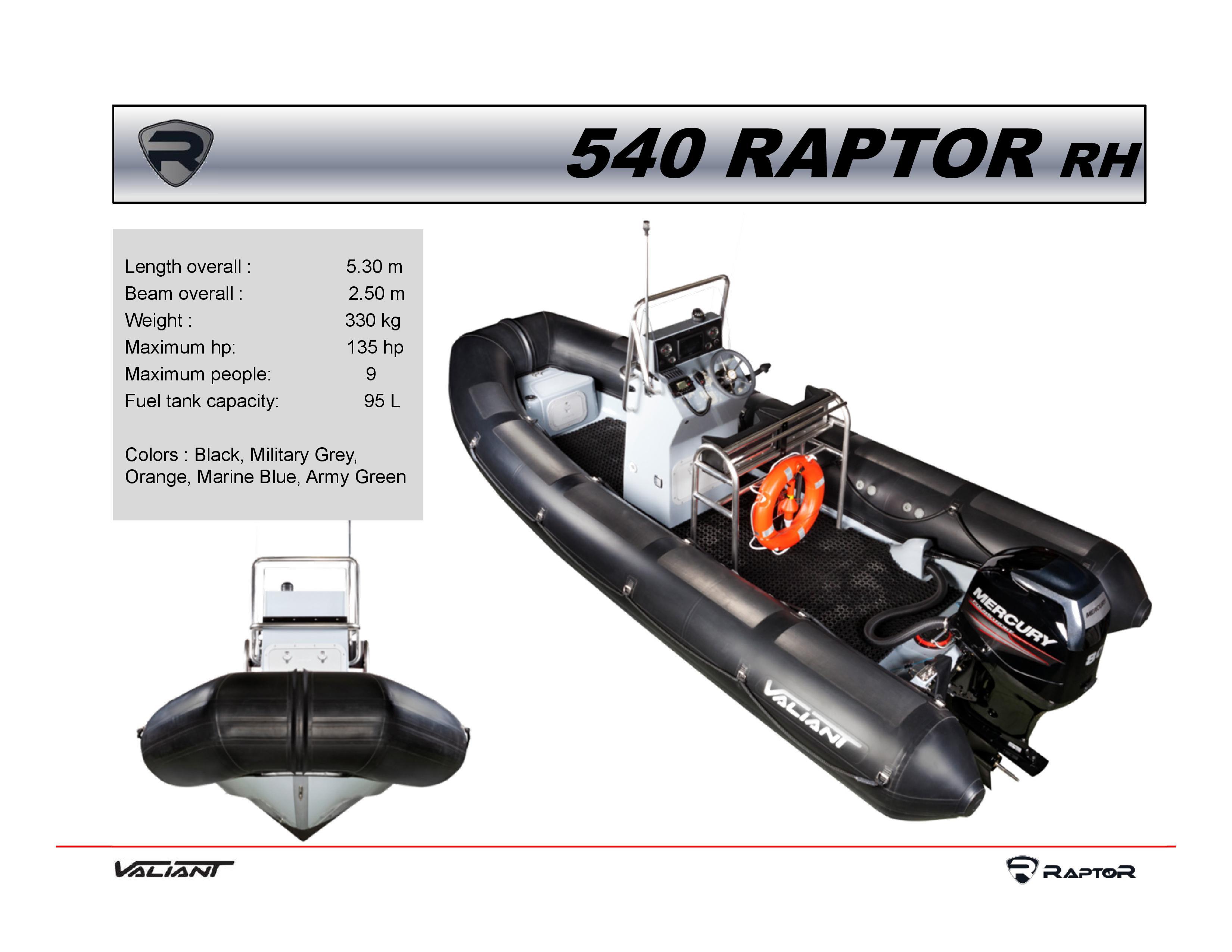 סירת דייג RAPTOR 540