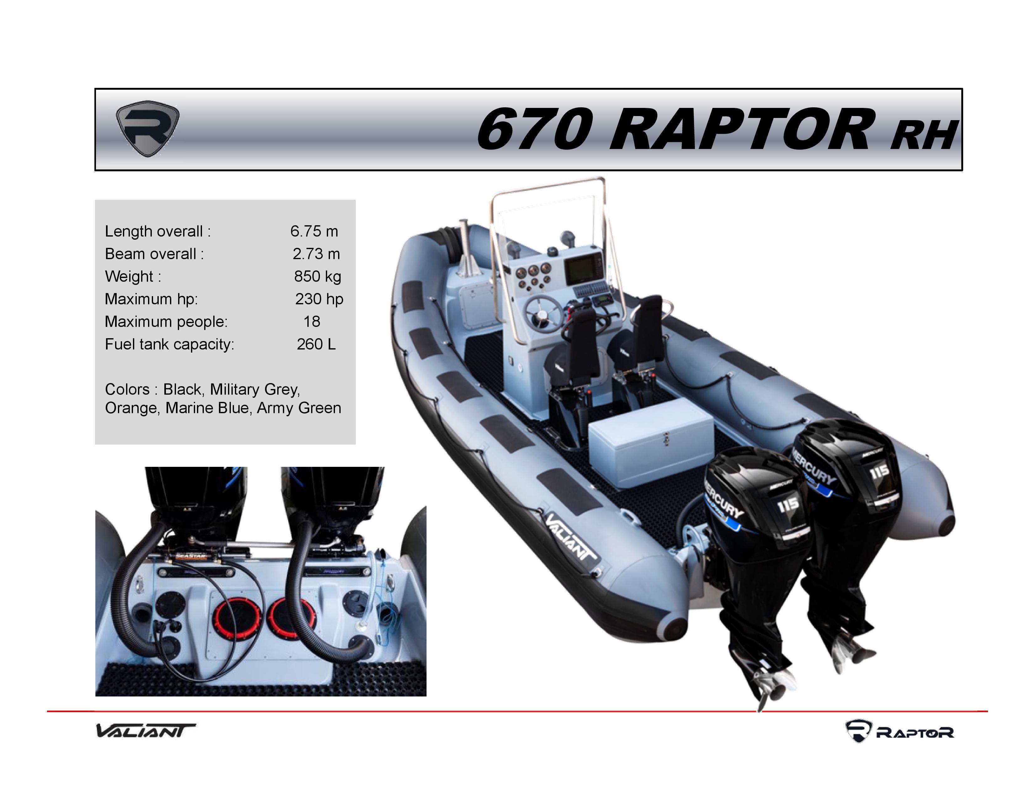 סירת מנוע RAPTOR 670