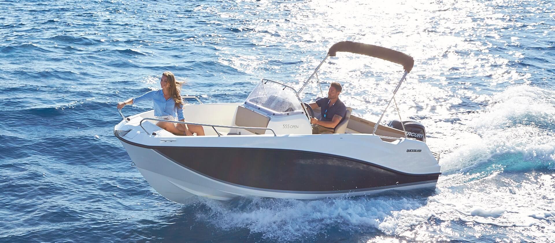 סירת דייג ספורטיבית Quicksilver 555 open
