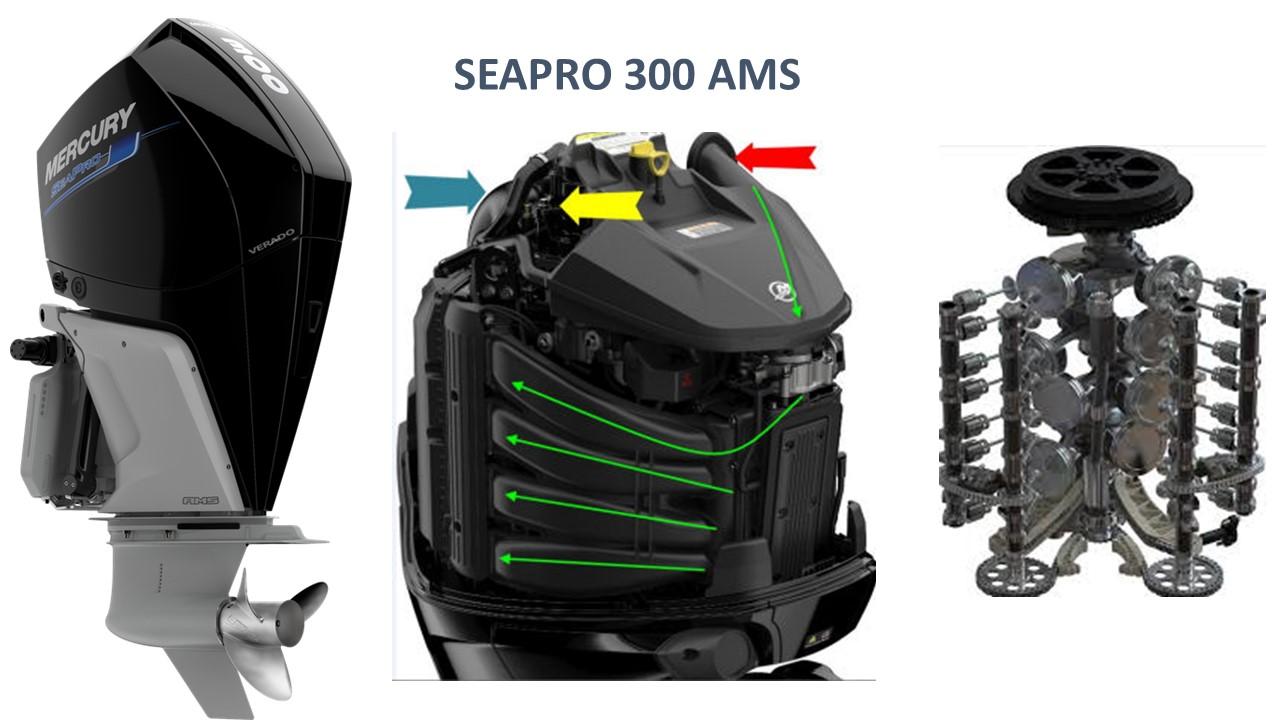 מנוע SEAPRO V8 300AMS